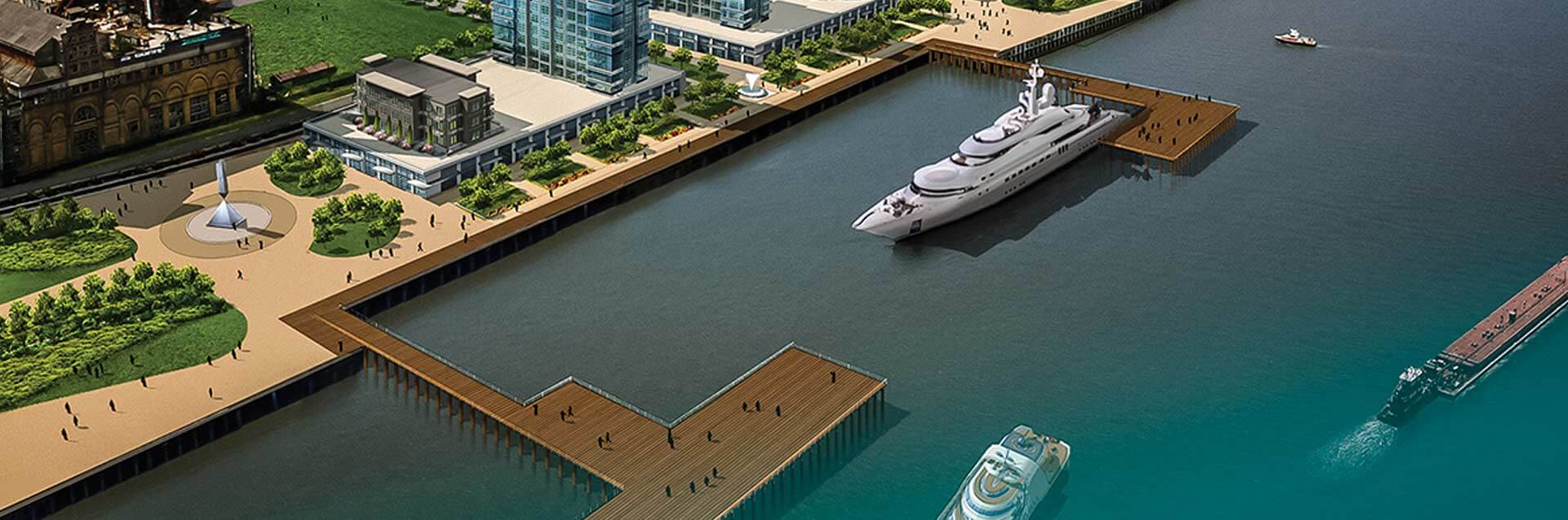 Artist's Rendition of New Orleans Marina