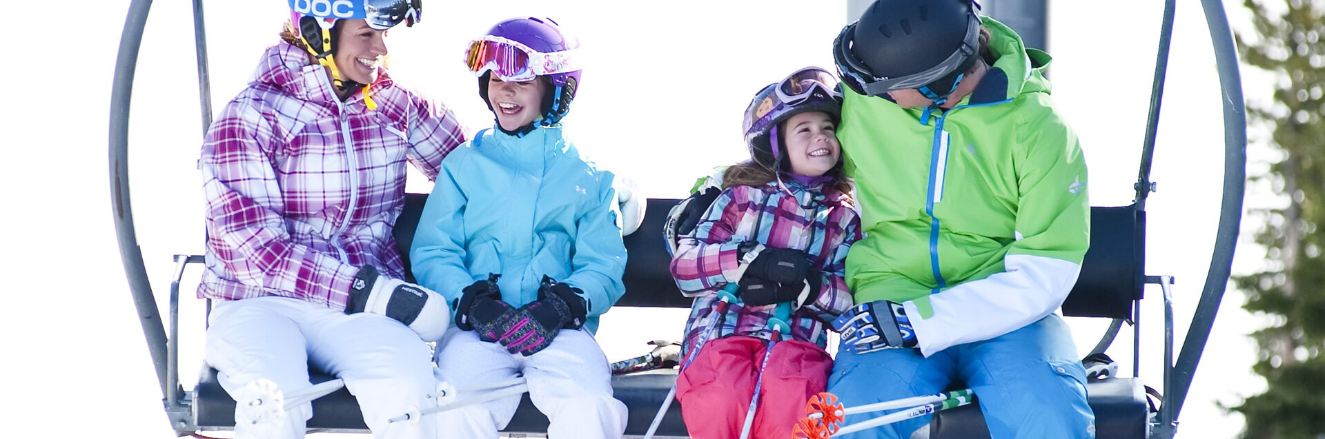 Family on Ski Lift in Pagosa Springs, Colorado
